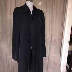 Burberry AS NEW navy blue dress trench coat 44